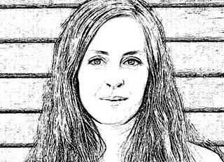 A stylized headshot of Hannah