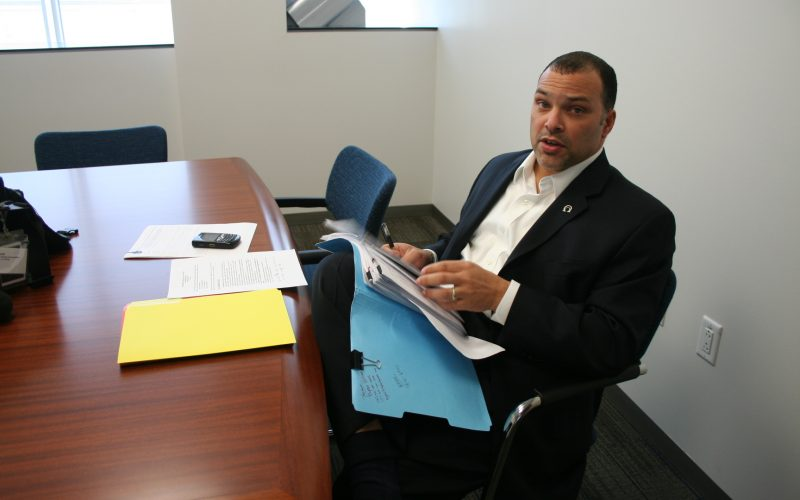 DeVone Boggan at the ONS offices in 2009. Photo: Heather Gilligan/California Health Report