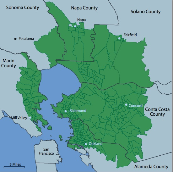 Elevated Rates Of Invasive Breast Cancer In Bay Area Cities California Health Report This map shows cities, towns, highways, main roads, secondary roads in san francisco bay area. invasive breast cancer in